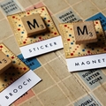 Vintage Scrabble brooch - choose your own letter