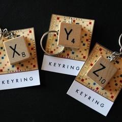 Vintage Scrabble keyring - choose your own letter