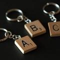 Vintage Scrabble keyring