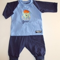 SIZE 000 Adorable Handmade Little Monster Baby 3 piece Set - FREE POST