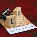 Vintage Scrabble cufflinks set - choose your own letters