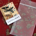 Vintage Scrabble cufflinks set - choose your own letters