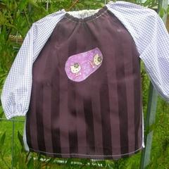 Kids art smock, toddler size, purple Hello Kitty. T9
