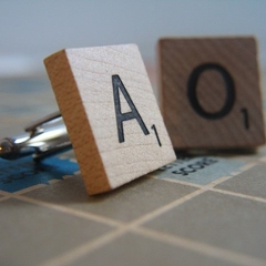 Cute Scrabble Cufflinks- You choose the letters
