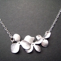 Orchids Necklace - On Sterling Chain