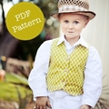 Vest Pattern. PDF Sewing Pattern for Little Lads' Reversible Vest, Make and Sell