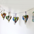 Hanging Paper Garland - Love Hearts from Upcycled/Recycled Picture Books