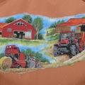 Art smock age 9 - 12 years (upper primary school) Farm Harvest.