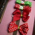 Christmas 4 pack of hair clips / bows