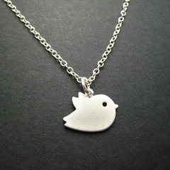 Love Bird Necklace - Sterling Silver Chain