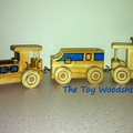 Wooden Toy Train - 3 piece - Loco, Coal Tender & Caboose