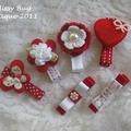 """Adore Missy Valentine"" Girls/Toddler Hair Clip *Set of 6 *"