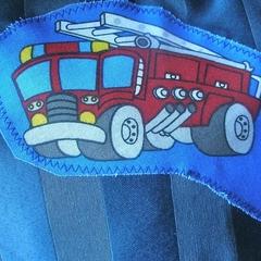 Toddler's art smock, Fire truck. T1.