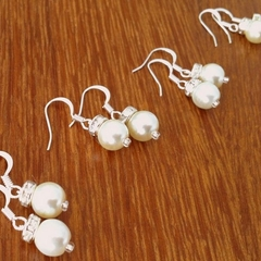 4 Simple and elegant earrings - for bridal and bridesmaids gift under 10 dollars