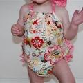 """""""Sofia"""" Sunsuit Playsuit Bodysuit Onesie w Ruffles 0000, 00, 0, 1, 2 romper"""