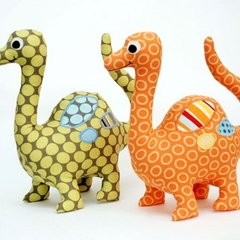 Dinosaur Softie Pattern. Stuffed Dinosaur PDF Sewing Pattern. Soft Toy
