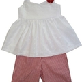SIZE 1 Anglaise and Red Gingham SET