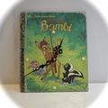 Upcycled Book Clock - Little Golden Book - Children's