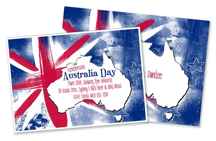 Australia day party invitation diy printable digital for Australia day decoration