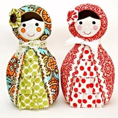 Babushka Doll Pattern. PDF Sewing Pattern. Nursery, Home Decor, Doorstop