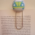 Fabric button giant paperclip bookmark