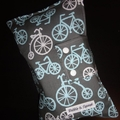 Nappy Wallet - Blue bicycles on Grey