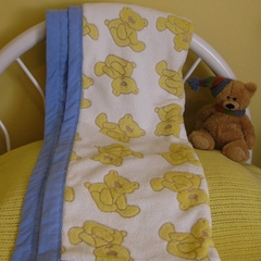 Fluffy teddies baby blanket