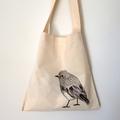 Shoulder bag - screen printed robin