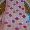 Baby blanket- pink + spots