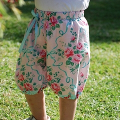"Harem Pants Summer Shorts - ""Ribbons & Roses""  winter. birthday party."