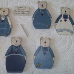 Set of Painted Bears