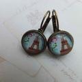 Vintage Paris in Blue  Earrings