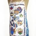 Metro Retro Vintage Teapot - USA Kitchen Apron - Birthday Mother's Day  Gift