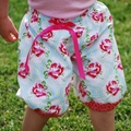 Harem Pants Summer Shorts in Rose Bloom winter. party. birthday.