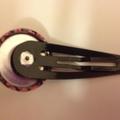 Liberty fabric button hairclip