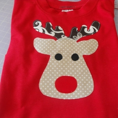 Rudolph Reindeer Christmas T Shirt All Sizes + Onesies