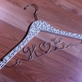 Clear crystal and pearl encrusted hangers gorgeous gift for any glamourous bride