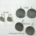 Bubbles rising sterling silver disc earrings