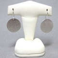 Bubbles rising large sterling silver disc earrings made to order
