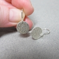 Bubbles rising small sterling silver earrings