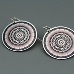 Black and Silver Motif Earrings