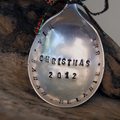 Our Family Vintage Silver Spoon Christmas Ornament / Decoration