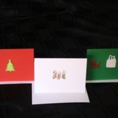 Set of Three Christmas Cards