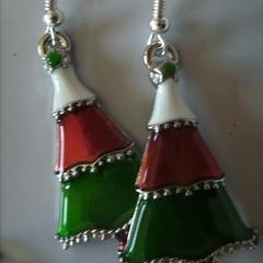 christmas tree earrings enamel, style earring view store for santa