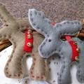 Reindeer pair Christmas decorations