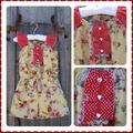 Vintage Roses Flutter Sleeve Romper / Playsuit Size 2