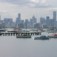 Melbourne skyline from Williamstown