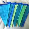 Blue/Green Bunting Flags