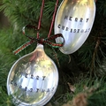 Vintage Silver Spoon Christmas Ornament / Decoration