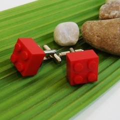 SALE - Quirky and Cute  Lego Cufflinks - You Choose the Colour